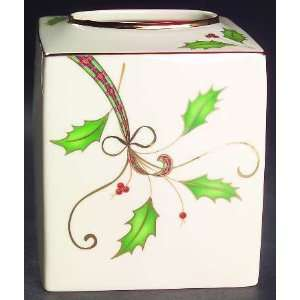 Holiday Nouveau Gold Square Tissue Box Cover, Fine China Dinnerware