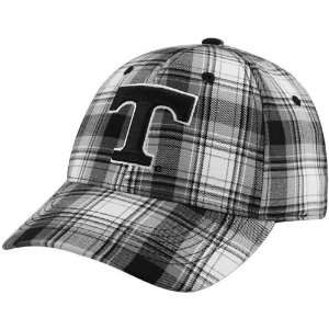 Top of the World Tennessee Volunteers Black White Plaid Premium 1 Fit