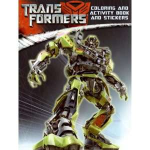 Transformers Coloring and Activity Book and Stickers