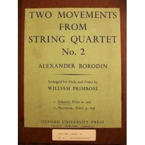 Two Movements from String Quartet No. 2  Arranged for viola