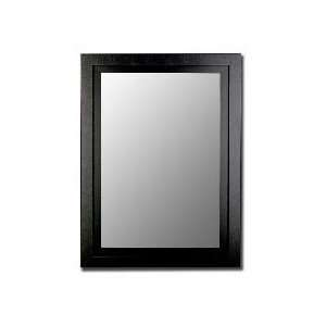 Ready to hang wall mirror with 1 1/4 bevel with black