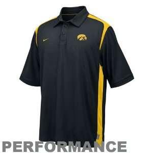 Iowa Hawkeyes Black Goal to Go Performance Polo