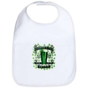 Baby Bib Cloud White Shamrock Pub Luck of the Irish 1759 St Patricks
