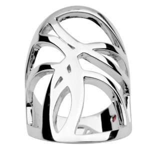 ELLE Sterling Silver Abstract Wide Band Ring Claire Vessot Jewelry