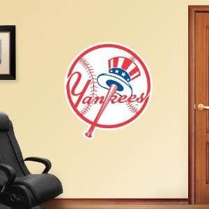 MLB New York Yankees Circle Logo Vinyl Wall Graphic Decal