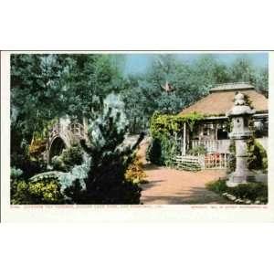 Reprint San Francisco CA   Japanese Tea Gardens, Golden Gate Park 1900