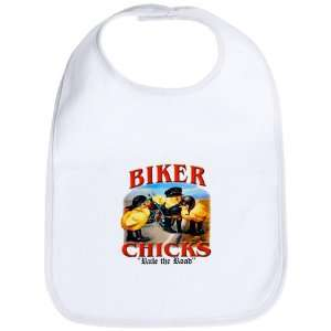 Baby Bib Cloud White Biker Chicks Women Girls Rule the