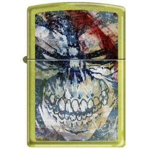 American Graffiti Art Death Skull Zippo Lighter