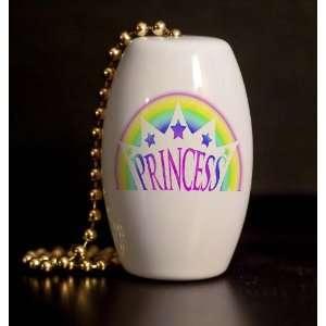 Princess Rainbow Porcelain Fan / Light Pull