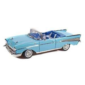 Diecast 1957 Chevy Bel Air Convertible   Blue Toys & Games