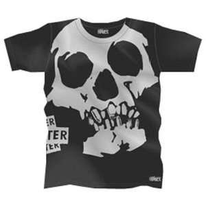 Hater Hate Skull Mens T shirt   Charcoal Sports