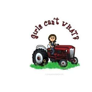 Light Red Farmer Girl Coffee Mug: Kitchen & Dining