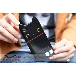 High Quality Cat Cute Lovely Case for Iphone 4 and Iphone 4s(black Cat