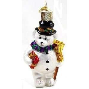 Old World Christmas Teddy Bear Snowman Christmas Ornament