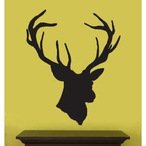 Vinyl Wall Art Decal Sticker Deer Head Statue Silhouette
