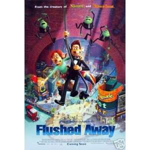 FlUsHeD AwAy VeR B OrIgInAl MoVie Poster DoUblE SiDeD 27 x40