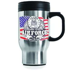U.S. Air Force Stainless Steel Travel Mug Home & Kitchen