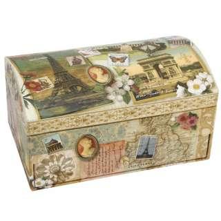 TREASURE BOX   Tri Coastal Designs Vintage World Traveller Jewellery