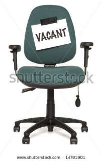 Office Chair With Vacant Sign Stock Photo 14781901 : Shutterstock