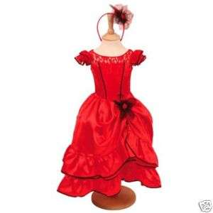 Girls Red SPANISH FLAMENCO PARTY Dress 3 4 5yrs   NEW*