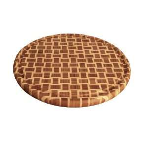 Totally Bamboo Geo Round Cutting Board with Groove