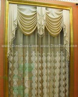Classic Embroidered Sheer Valance Curtains Drapes   DinoDirect