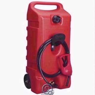 Flo n Go Duramax 14 Gallon Portable Gas Pump Tank two shutoff valves