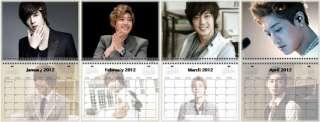KIM HYUN JOONG 金贤重 Korean Band Wall Calendar Year 2012