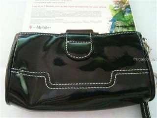 Mobile Premium Quality Black Leather Fashion Case Pouch+Strap