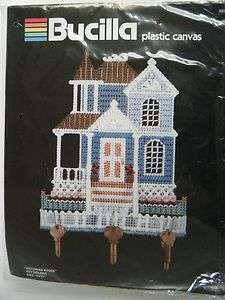 Needlepoint Plastic Canvas Kit VICTORIAN HOUSE 10 x 11 Key Holder