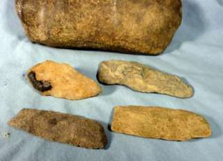 Lot of 8 Native American Artifacts, 13 Pestle, Stone Axe etc