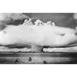 Atomic Bomb Mushroom Cloud Over Pacific 8x12 Silver Halide