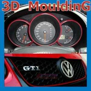 2x Car Interior Exterior Moudling Trim Strip Line # RED