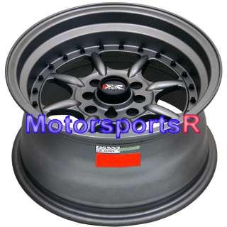 16 16x8 XXR 002 Flat Gun Metal Rims Wheels Deep Dish Lip 4x100 03 06