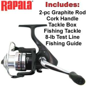 RAPALA SPINNING ROD & REEL COMBO KIT ~ Worldwide Shipping from