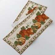 FALL Autumn Thanksgiving Table Runners 36 Leaves NEW