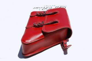 Harley Solo Sportster 82 03 Red Leather Saddle Bag