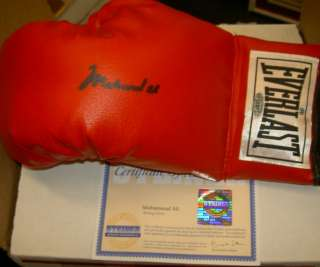 MUHAMMAD ALI AUTOGRAPHED SIGNED BOXING GLOVE STEINER