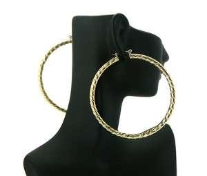 Basketball Wives POParazzi Hoop Earring Gold LXE25G 70mm