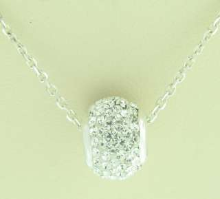 THIS IS A BEATIFUL BEAD CRYSTAL STONES PENDENT NECKLACE IN 925