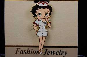 Nurse Betty Boop Brooch Pin