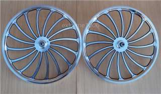 Custom Alloy Machined Wheel Set BMX Lowrider Bicycle Mags Bike Rims