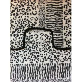 15 piece Bath rug set animal leopard zebra print bathroom shower