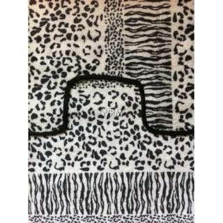 15 piece Bath rug set animal leopard zebra print bathroom shower