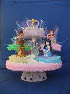 TINKERBELL FAIRY FRIENDS BIRTHDAY CAKE TOP/TOPPER