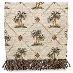 Bess Palm Tree Natural Table Runner 72