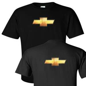 New Chevrolet CAMARO Chevy t shirt front n back Gold Logo   S 5X   Tee