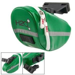 Como Bicycle Bike Faux Leather Saddle Seat Pouch Bag Green