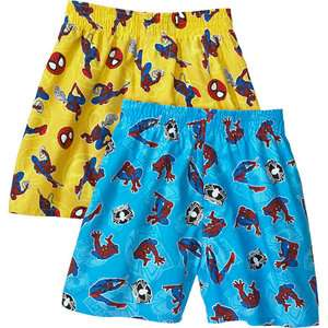 Hanes   Little Boys Spider Man Boxer Shorts, 2 Pack Mix & Match