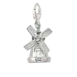EZ Charms Sterling Silver Windmill Charm Bracelets